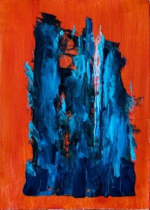 azul naranja