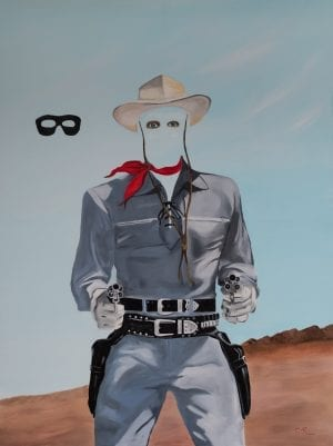 The Lone Pilgrim Oil on Canvas by Chris Reecer